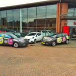 Eden Vauxhall front of showroom with cars 2