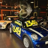 Mini inside showroom