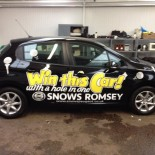 Snows win this car graphics
