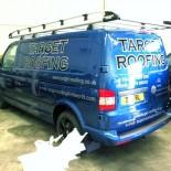 Target Roofing side of van
