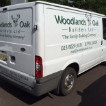 Woodlands Oak van side & rear
