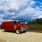 Red Camper Van With Side Door Crest Off Road Romsey
