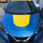 Blue Nissan Yellow Wrap Eastleigh